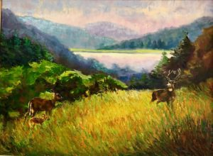 """Spruce Knob Lake, West Virginia"" by Leo Deege / Oil"